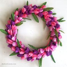 Spring Wreath For Front Door Diy Dollar Stores