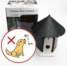 Sonic Bark Deterrents - 77tech Outdoor Ultrasonic Bark Deterrent Controller for Pet Dog with Bird House Design Black * To view further for this item, visit the image link. (This is an Amazon affiliate link)