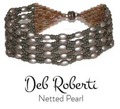 Netted Pearl_21 Pearl Bracelet, Pearl Necklace, Beading Needles, Beading Tutorials, Bracelet Patterns, Round Beads, Black Diamond, Seed Beads, Antique Silver