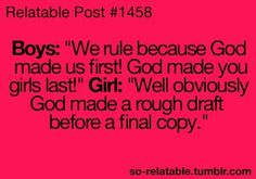 Teen Girl Funny Quotes | girls boys win humor jokes burn joke teen quote girl quotes funny ...