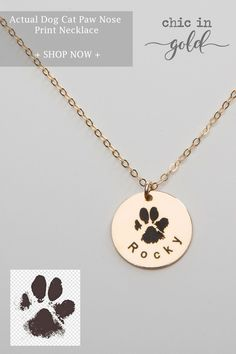 Actual Dog Cat Paw Nose Print Necklace-Personalized Pet Jewelry-Engraved Name-Memorial Loss-Pet Lover-Animal Leelah, Animal Jewelry, Dog Jewelry, Pet Paws, Pet Memorials, Cute Jewelry, Cute Baby Animals, Pet Adoption, Dog Love