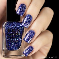 This brilliant blue and purple glitter polish will have your nails looking like they are out of this world. This polish can be worn alone in 2-3 coats or top it with any color! Collection: Permanent S