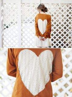 DIY: lace heart cardigan
