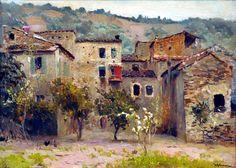 Isaac Levitan — Near Bordighera, North Italy — 1890
