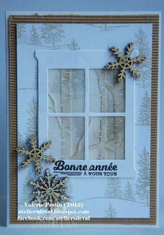 idée carte de noel fait maison 22 vie www.cartefaitmain.eu #carte #diy Stampin Up Christmas, Christmas Cards To Make, Xmas Cards, Handmade Christmas, Holiday Cards, Christmas 2015, Card Making Inspiration, Making Ideas, Window Cards