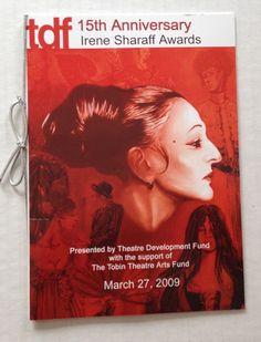 Irene Sharaff Awards 2009 Souvenir Program Booklet Costume Design Designer Book