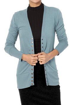 Weatherproof Black Grey Vintage Reindeer Graphic Five Button Cardigan Sweater XL