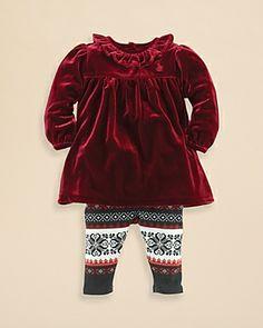 Girls' Velvet Holiday Outfit