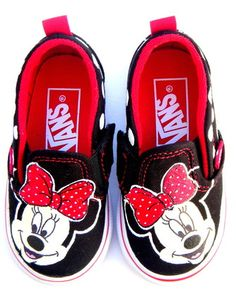 Minnie Mouse Painted Vans Shoes Minnie Mouse Toddler Shoes 8a5bde85769