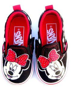 Minnie Mouse Painted Vans Shoes