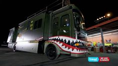 Awesome vintage airplane-inspired themed bus wrap