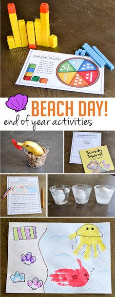 Celebrating Beach Day at the end of the year? These fun activities will keep students engaged and learning up through those last days of school! There is a themed beach activity for each subject area - click on over to the post to read more!