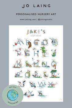 Let's learn the ABC.. #alphabet #learnthealphabet #learning #ABC #A-Z #nurseryart #personalisedart #playroomart #babyart #toddlerart #childart #artgift #nurseryinspo #playroominspo #illustrator #artist #watercolour Alphabet Nursery, Abc Alphabet, Alphabet Print, Nursery Art, Luxury Nursery, Playroom Art, Personalised Prints, Toddler Art, Watercolor Artwork
