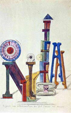 La Grande Roue Orthochromatique…, 1919, Max Ernst Medium: gouache, paper