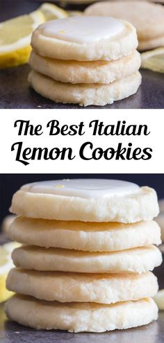 Perfect melt in your mouth Lemon Cookies. If you love anything lemon then you are going to love these cookies. Light and easy to make, with a tasty lemon glaze, they are sure to satisfy any lemon lover! This easy lemon cookie recipe is great for summer or anytime you fancy a citrusy treat! #lemoncookies #cookies Italian Lemon Cookies, Lemon Cookies Easy, Lemon Sugar Cookies, Lemon Cookie Recipe, Lemon Glaze Recipe, Fruit Recipes, Sweet Recipes, Baking Recipes, Dessert Recipes