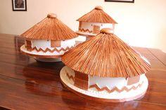 Mokgalaka Creations - 3 Rondavels wedding cake.