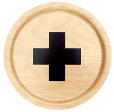 """Cross"" tray by Swedish Pia Wallén"