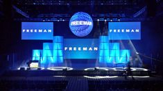 #GeneralSession Stage set ready to go produced by our team out in Houston.
