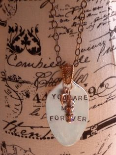 You Are my FOREVER Hand Stamped Flattened Vintage Spoon by bling33, $26.00