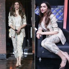Deepika Padukone for her movie Tamasha Promotions on the show 'I can do that'