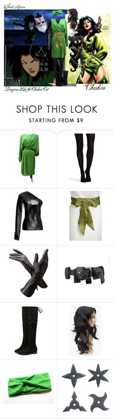 """""""DC Villain Cheshire"""" by twirlgirllife ❤ liked on Polyvore featuring Yves Saint Laurent, SPANX, Anthony Vaccarello, L. Erickson, Aspinal of London, POLICE and S.W.O.R.D."""