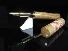 Special African Oak Wood Burl fountain pen by ZmanCustomPens