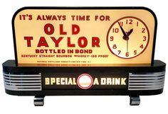 Vintage Old Taylor Whiskey Clock