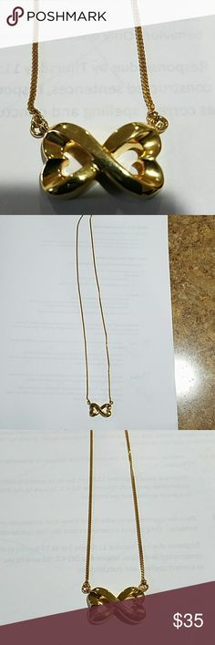 Double Heart Infinity Necklace Gold plated silver double heart inifity necklace Jewelry Necklaces