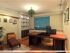 Home Office Designs Elegant Wonderful And Cozy Home Office Design Idea With BEautiful Artistic Ceiling Light