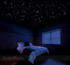 400 - 1000 Star Stickers Removable individual star stickers for a 3D realistic star ceiling. These stars are super realistic, and glow as brightly as stars in