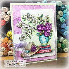 Graceful Still Life - a brand new Power Poppy digi release! - Splashes of Watercolor