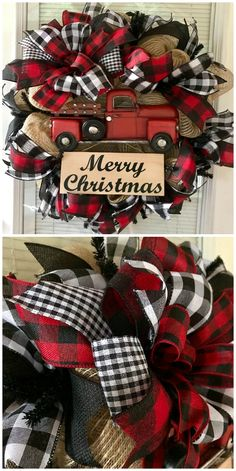 Christmas Wreaths To Make - All The Best Ideas Elf Christmas Decorations, Christmas Wreaths To Make, Holiday Wreaths, Christmas Diy, Winter Wreaths, Spring Wreaths, Summer Wreath, Christmas Truck, Country Christmas