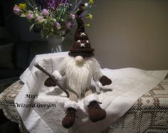 Hand knitted Scandinavian Gnome by YeOldeHandmadeCrafts on Etsy