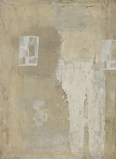 Lawrence Carroll, Untitled, mixed media on linen mounted to board  (Monotone & composition)