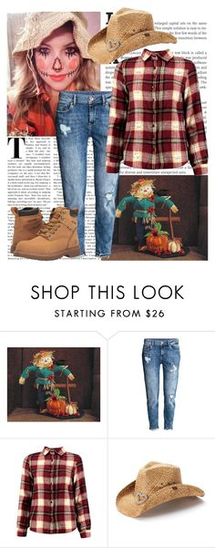 """""""Scarecrow Costume"""" by shadow13goddess101 ❤ liked on Polyvore featuring H&M, Boohoo, Peter Grimm, Wolverine, halloweencostume and DIYHalloween"""