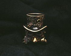 Collectible Bronze Bead Snake Paracord Bracelet couteau cordon perles Handcast