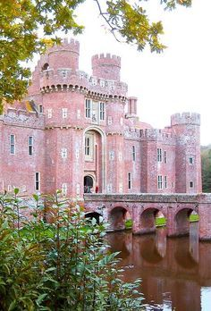A pink castle.... too cool!!.......Herstmonceux Castle in East Sussex, England