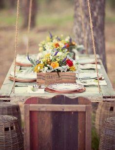 Meal outside