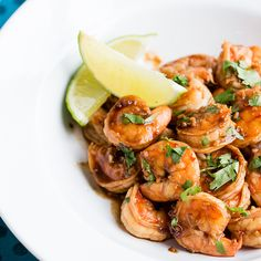 Honey and garlic shrimps