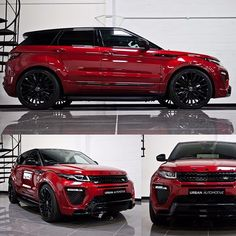 This little thing is such a beauty we had to include it in our Goodwood 5 ! - Firenze Red Urban EVOQUE with sports handling pack . Landrover Range Rover, Range Rover Car, Range Rover Evoque, Range Rovers, Best Suv Cars, Best Luxury Cars, Luxury Suv, Truck Caps, Range Rover Supercharged