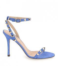 Valentino Rockstud Suede Naked Sandals ($945)