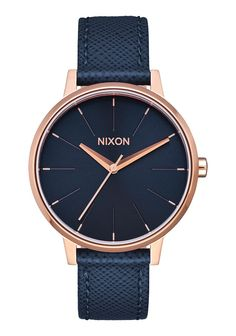 Kensington Leather, Navy / Rose Gold #WomenWatches