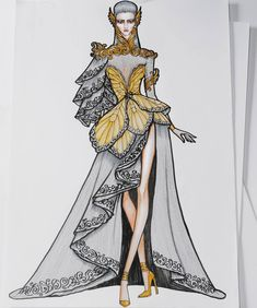 ideas for fashion sketchbook inspiration dresses Dress Design Drawing, Dress Design Sketches, Fashion Design Sketchbook, Dress Drawing, Fashion Design Drawings, Fashion Sketches, Costume Design Sketch, Drawing Sketches, Dress Illustration