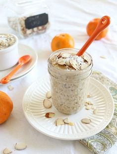 Orange Infused Overnight Steel Cut Oats   : Running to the Kitchen