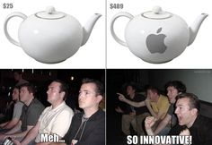 How some Apple fanatics see everyday gadgets.