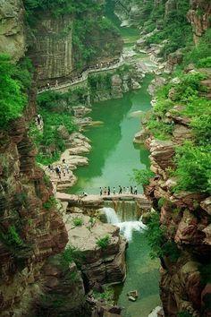 Yuntaishan Global Geopark, Henan, China.
