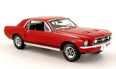 Red mustang 1967 | Ford Mustang 1967 coupe red Greenlight diecast model car 1/18 - Buy ...