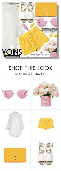 """""""Yoins"""" by jiabao-krohn ❤ liked on Polyvore featuring Oliver Peoples, BCBGeneration, Betsey Johnson, yoins, yoinscollection and loveyoins"""