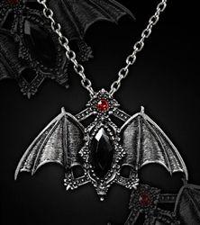 brass bat pendant gothic pendant Bronze bat necklace nice fat bat charm goth jewelry halloween necklace punk necklace vampire jewelry