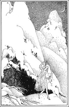 Snow - Down-Adown-Derry; A book of Fairy Poems by Walter De La Mare; published by Constable & Co, 1922